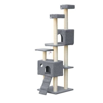 7 Level Cat Scratching Post - Grey