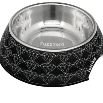 fuzzyard black diamond pet bowl